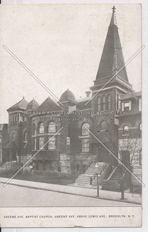 Greene Ave. Baptist Church nr Lewis St., Bklyn