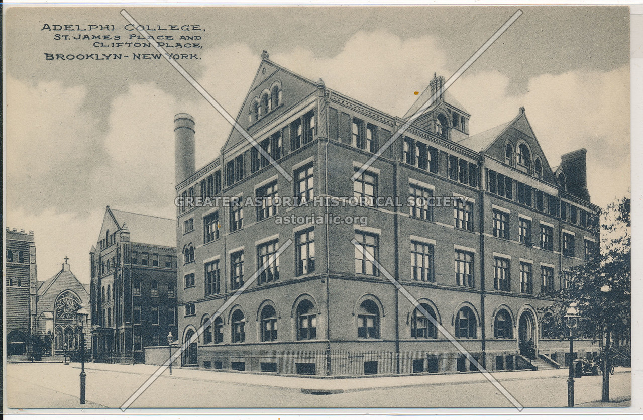 Adelphi College, St. James Place and Clifton Place, Bklyn
