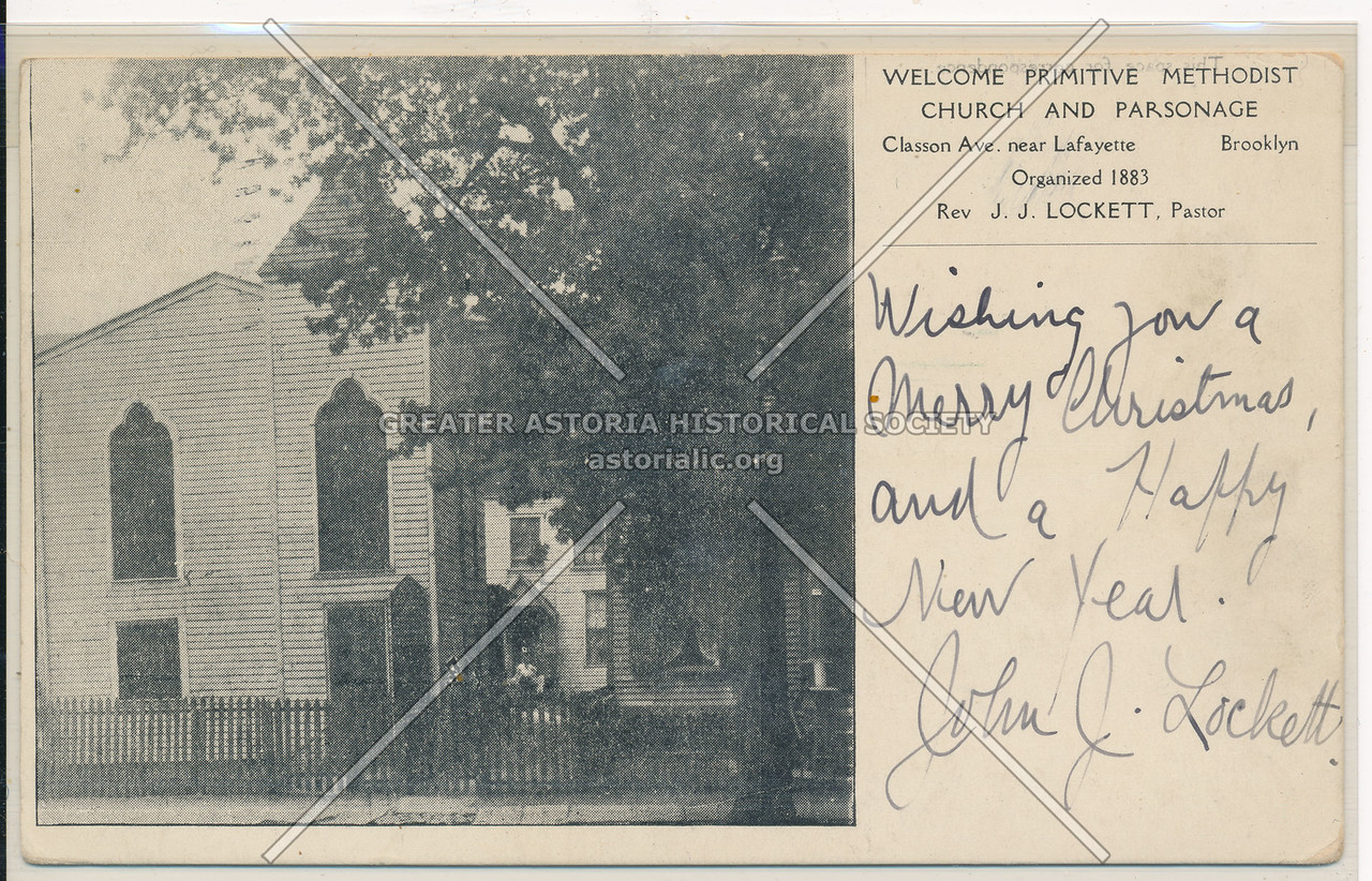 Primitive Methodist Church and Parsonage, Classon Ave. near Lafayette, Bklyn