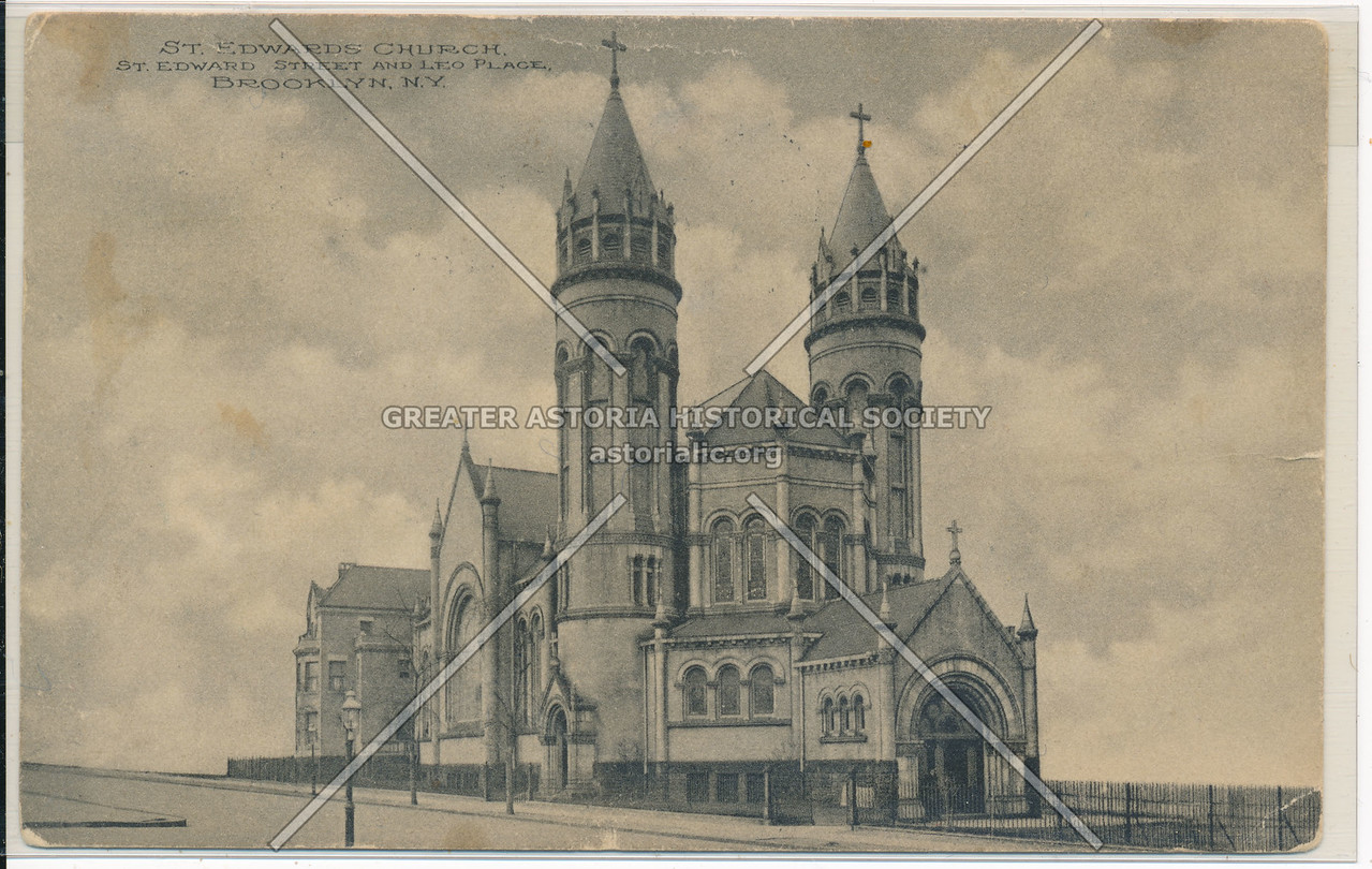 St. Edward's Church, St. Edward St. and Leo Place, Bklyn