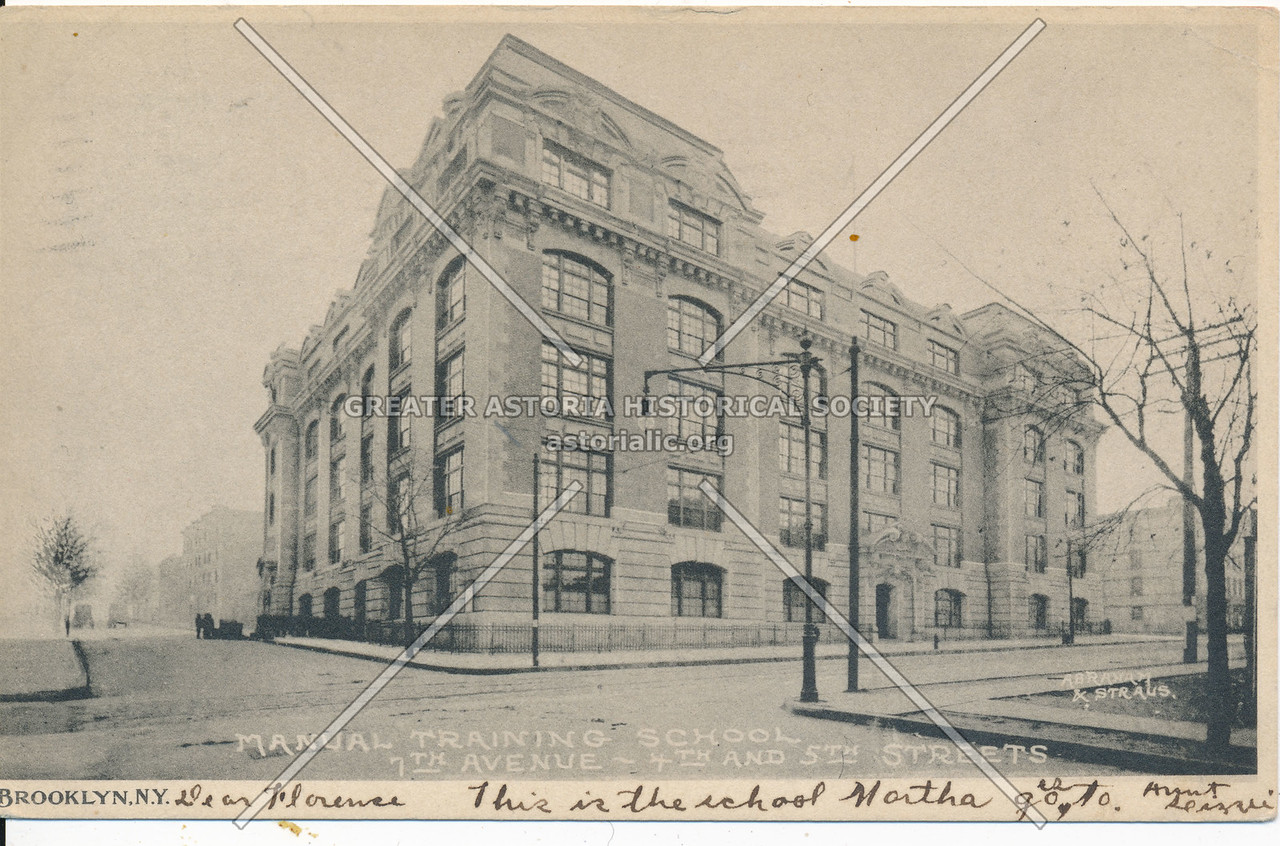 Manual Training School, 7th Ave- 4th and 5th Streets, Bklyn