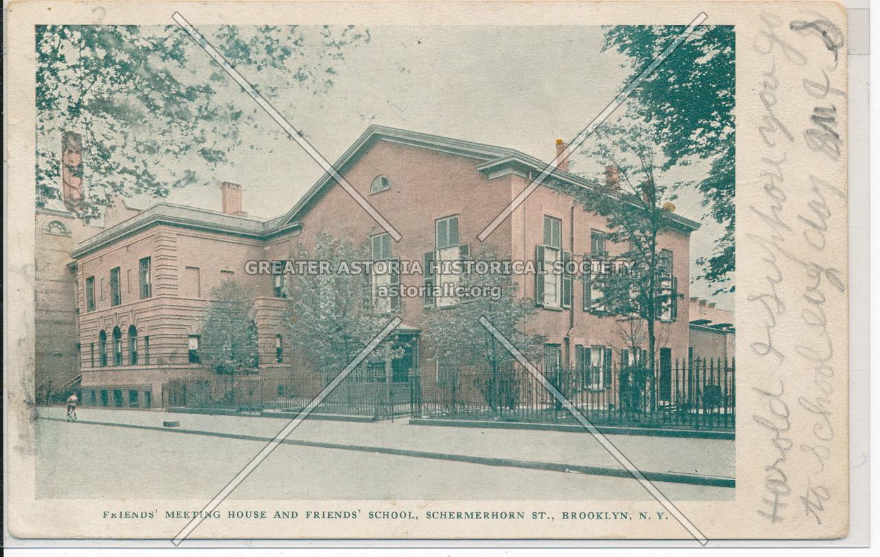 Friends' Meeting House and Friends' School, Schermerhorn St., Bklyn