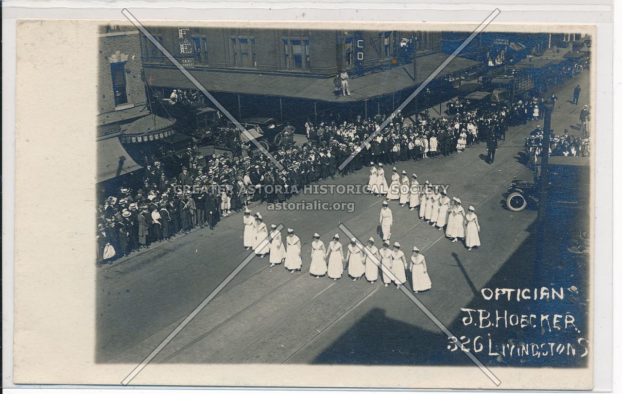 Nurses in Livingston Street Parade, Bklyn