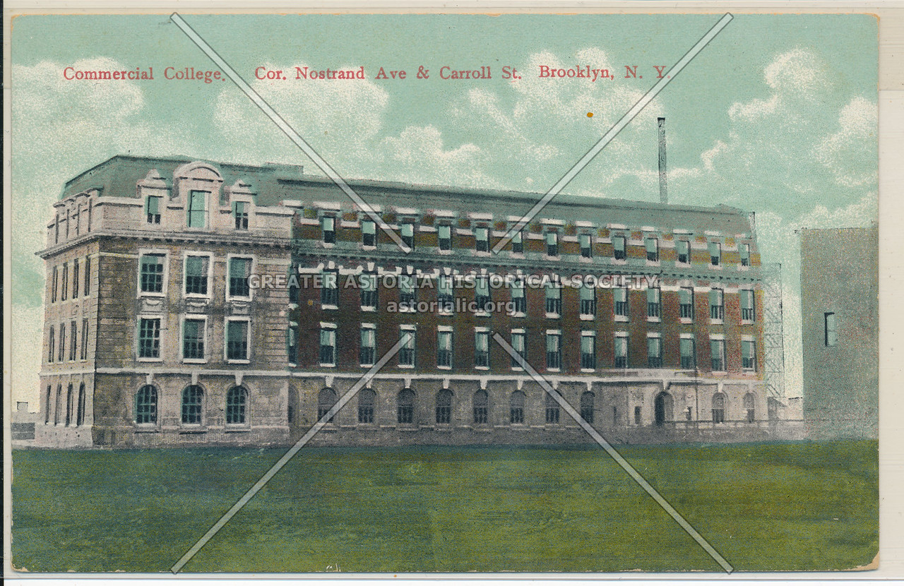 Commercial College, Nostrand Ave. & Carroll St, Bklyn