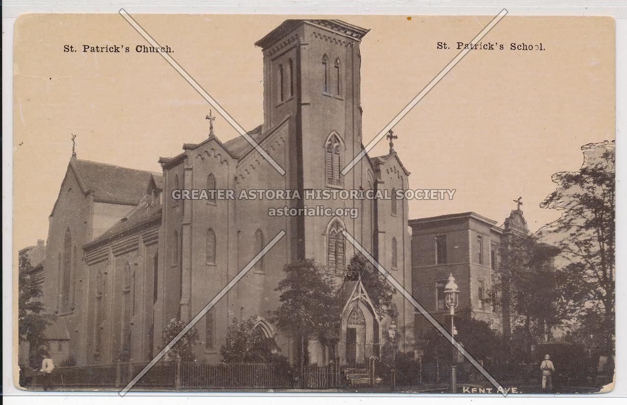 St. Patrick Church and St. Patrick's School, Kent Ave.