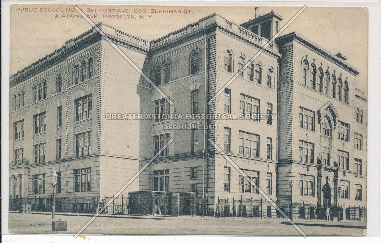 P.S. 64, Belmont Ave. Cor. Berriman St. & Atkins Ave. Bklyn
