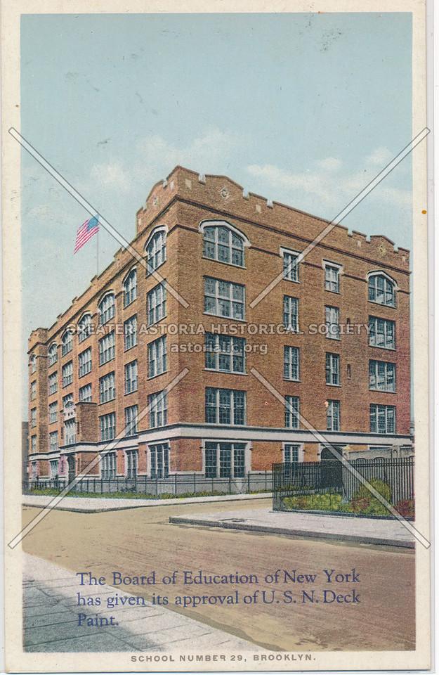 U.S. N. Deck Paint, School No. 29, Bklyn