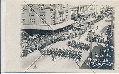Soldiers March in Livingston Street Parade, Bklyn