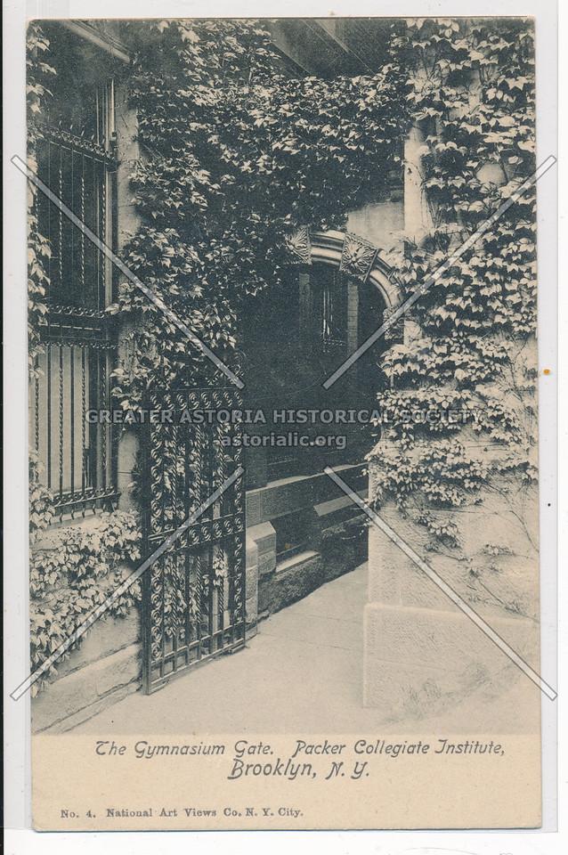 The Gymnasium Gate, Packer Collegiate Institute, Bklyn
