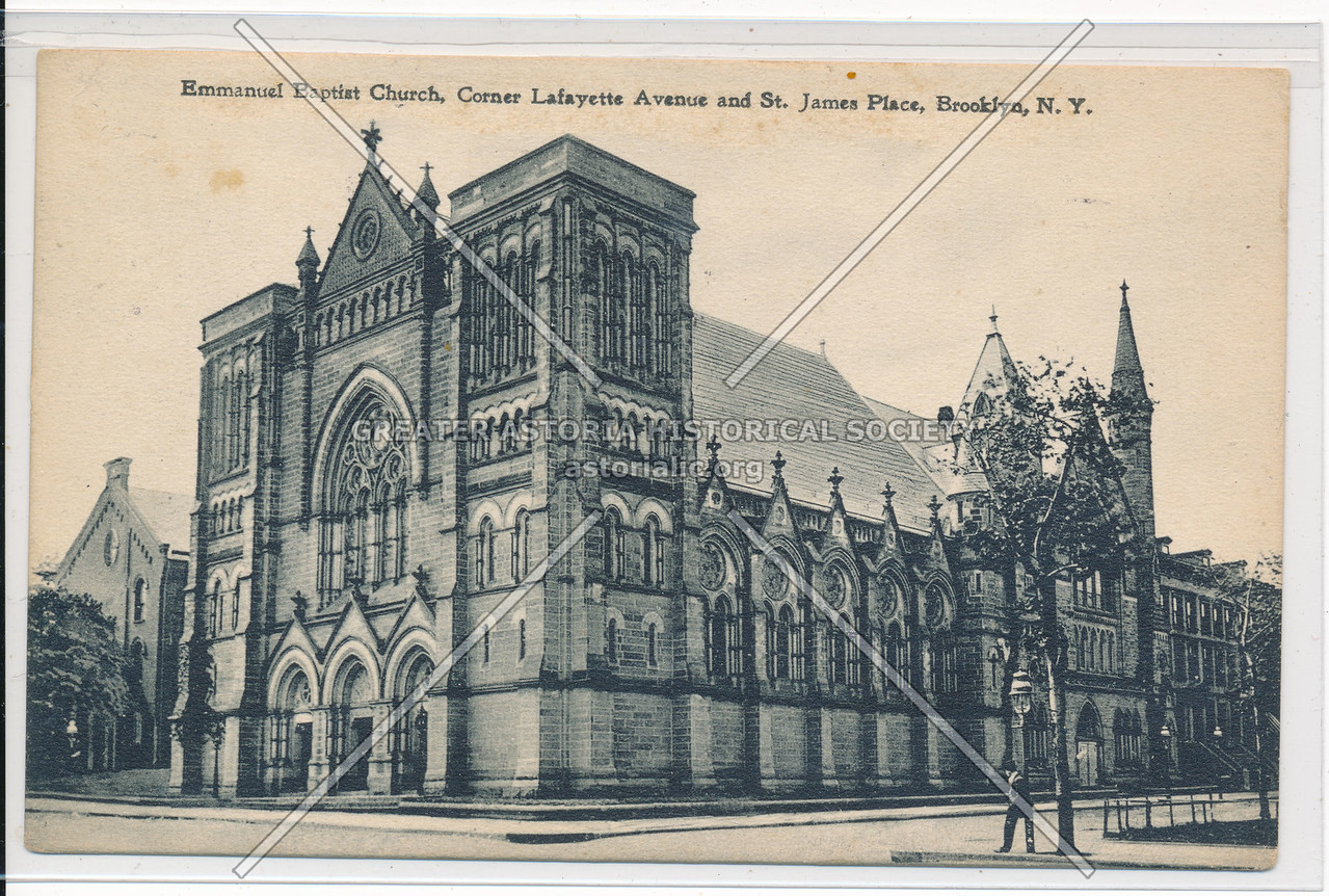 Emmanuel Baptist Church, Corner Lafayette Ave. and St. James Place, Bklyn