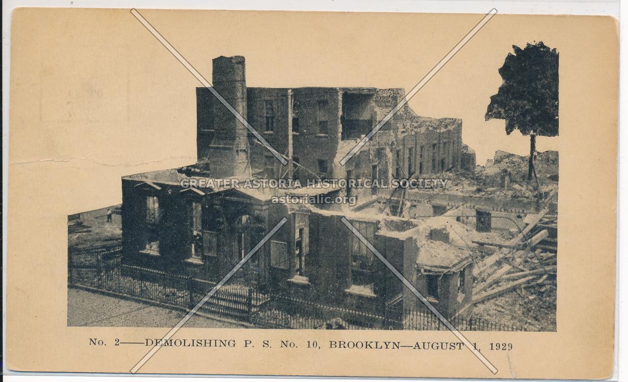 Demolishing P.S. No. 10, Bklyn