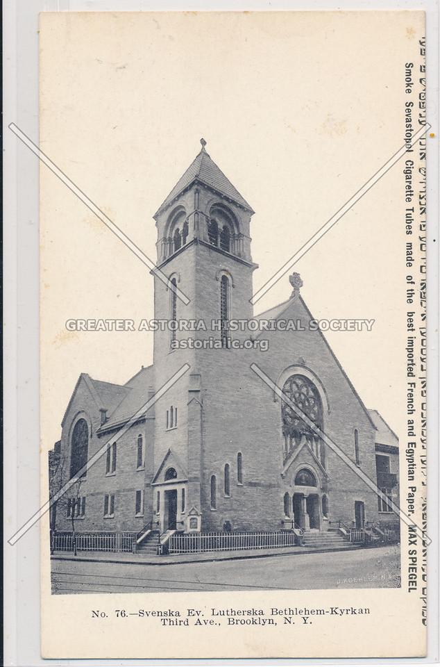 Svenska Ev. Lutherska Bethlehem-Kyrkan, Third Ave, Bklyn