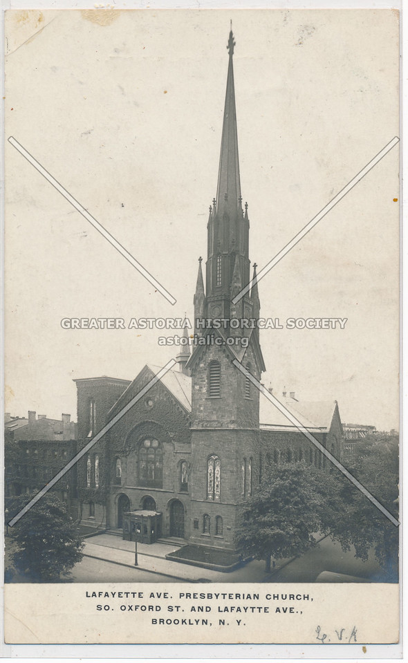 Presbyterian Church, Lafayette Ave. Oxford St., Bklyn