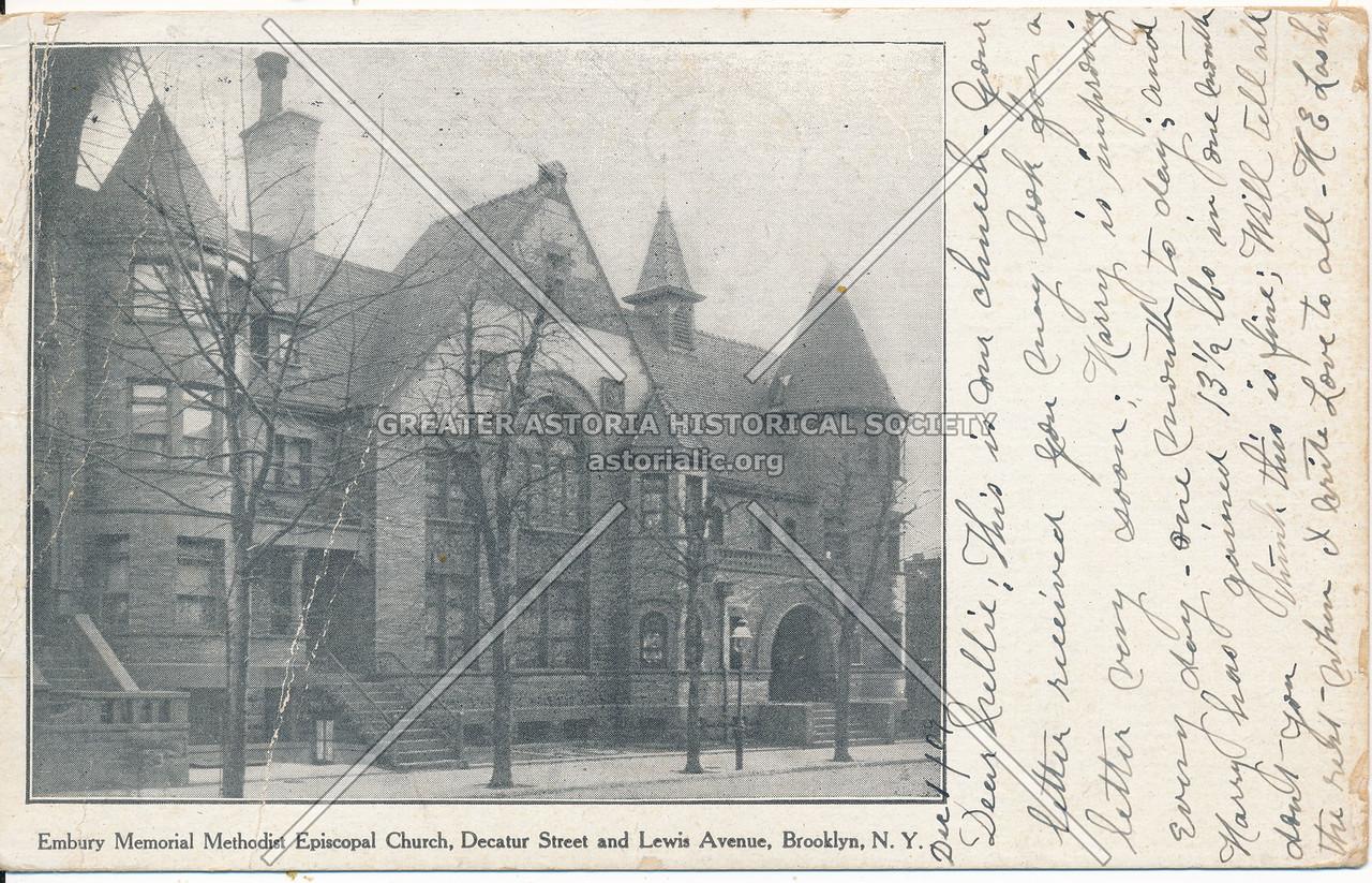 Embury Memorial Methodist Episcopal Church, Decantur St. and Lewis Ave. Bklyn