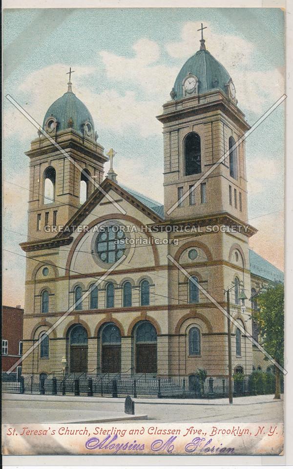 St. Teresa's Church, Sterling and Classen Ave., Bklyn