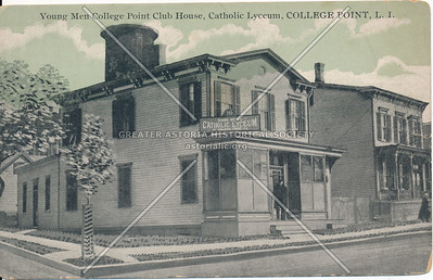 Young Men College Point Club House, Catholic Lyceum, College Point, LI