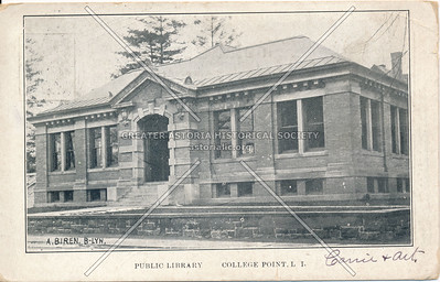 Public Library, 14 Ave., College Point, LI