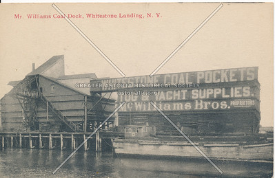Mr. William's Coal Dock, Whitestone Landing, NY