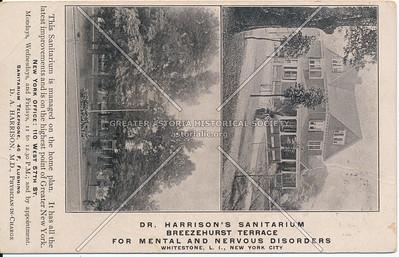 Dr. Harrison's Sanitarium, Breezehurst Terrace, For Mental and Nervous Disorders, Whitestone, LI