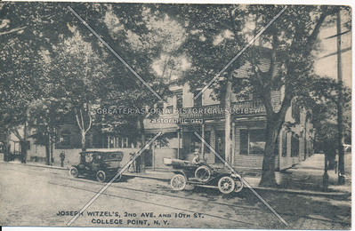 Joseph Witzel's 2nd Ave. and 10th St (14 Rd and 119 St); later Flessels Tavern; College Point, NY
