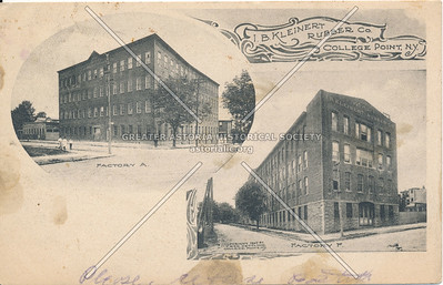 I.B. Kleinert Rubber Co., 20 Ave., College Point, NY, Factory A and B
