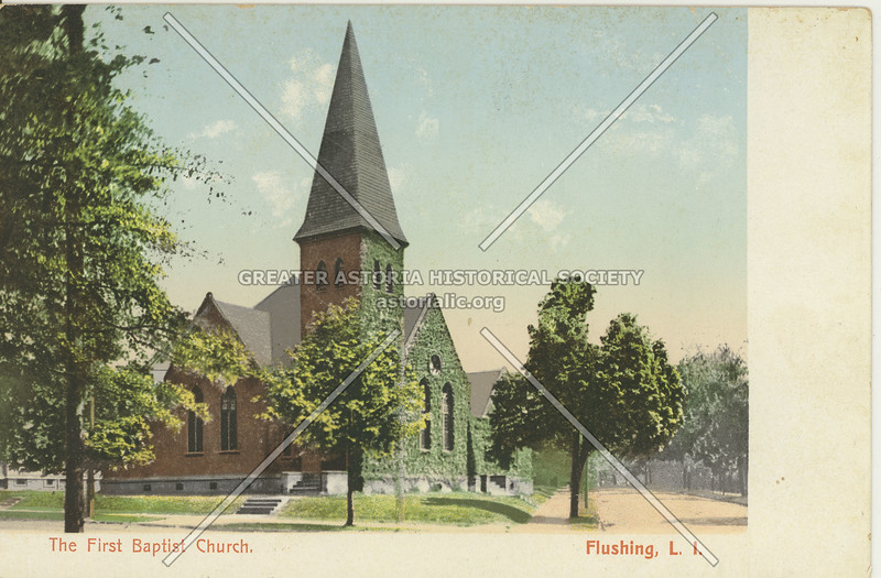 First Baptist Church, Sanford Ave and Union St.,  Flushing, L.I.