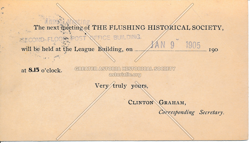 The Flushing Historical Society at the League Building