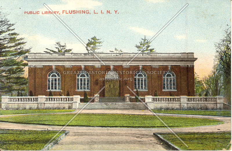 Public Library, Kissena Blvd and Main St., Flushing, L.I., N.Y.