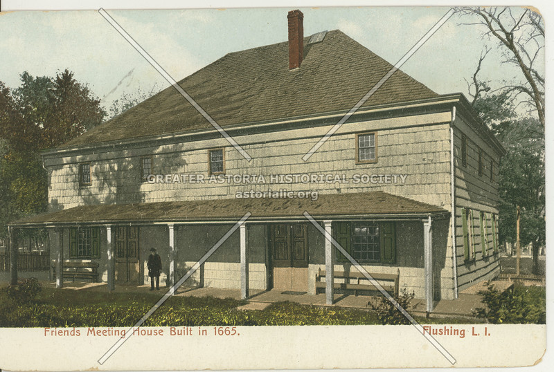 Friends Meeting House, Northern Blvd., Flushing L.I.