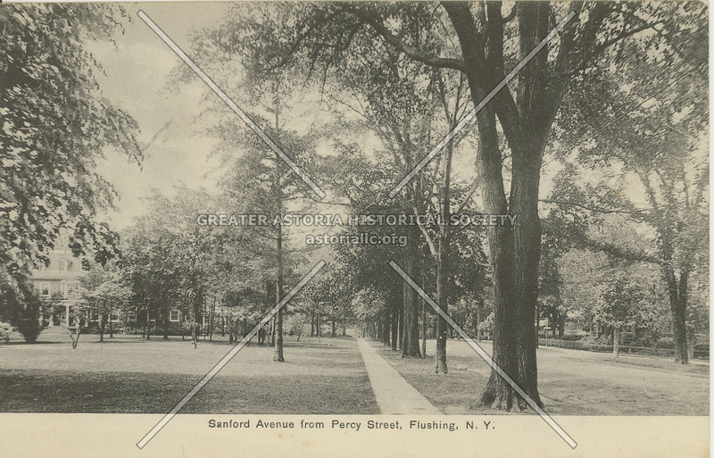Sanford Avenue from Percy Street (147 St), Flushing, N.Y.