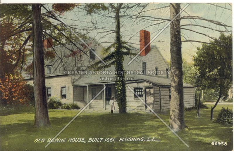 Old Bowne House, Built 1661, L.I.