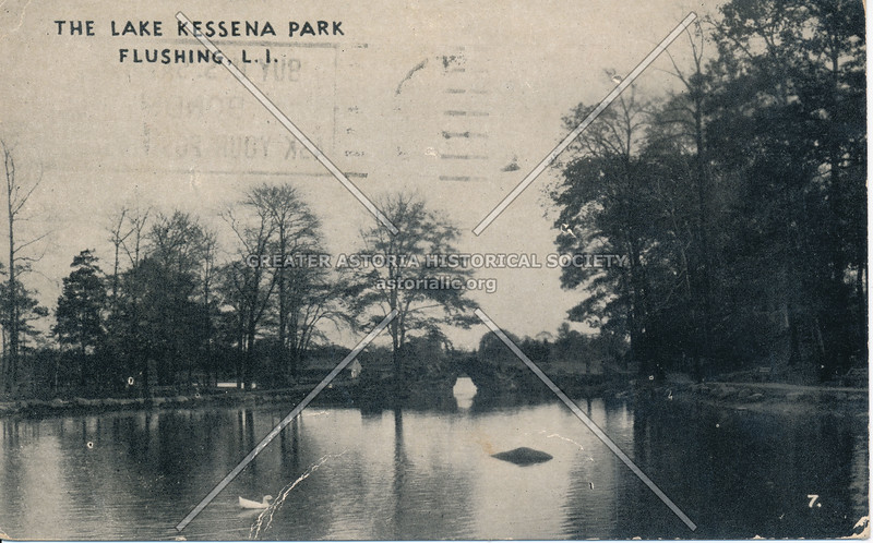 The Lake Kissena Park, Flushing L.I.