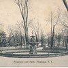 Fountain and Park, Northern Blvd and Main St., Flushing, N.Y.