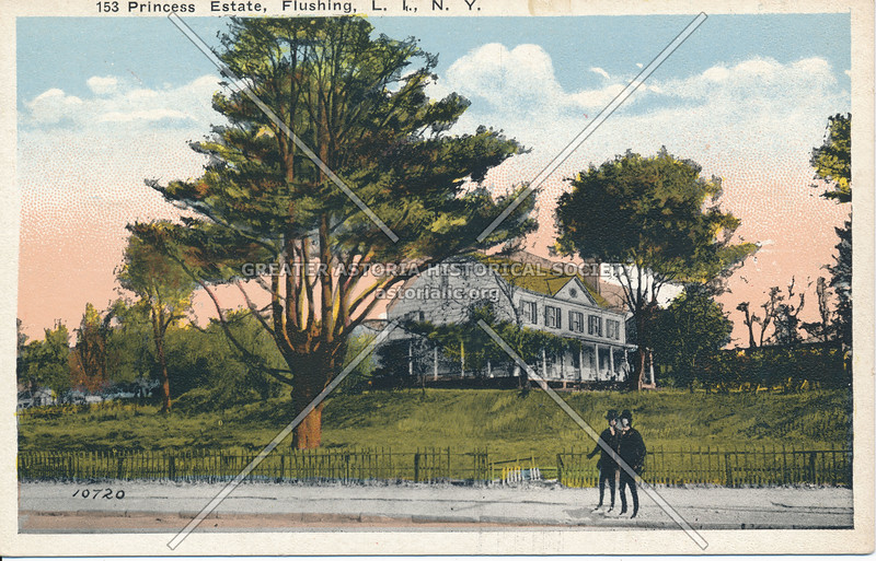 The Prince Estate, Corner Broadway (Northern Blvd) and Lawrence St (College Pt Blvd)., Flushing, L.I.
