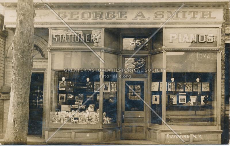 George A. Smith, Stationery & Pianos, Flushing N.Y.