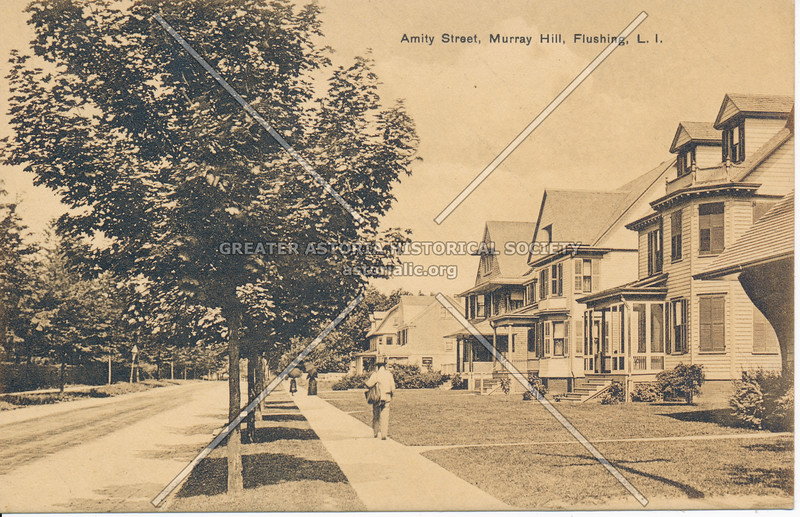 Amity Street (Roosevelt Ave) Murray Hill, Flushing, L.I.