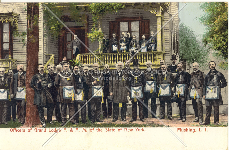 Officers of Grand Lodge F. & A.M. of the State of New York, Flushing N.Y.