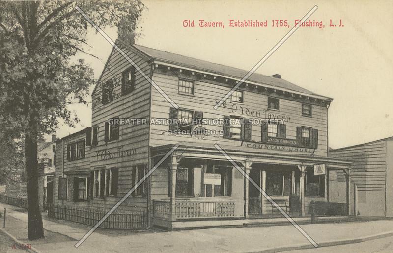 Old Tavern, Northern Blvd and Main St.,  Flushing L.I.