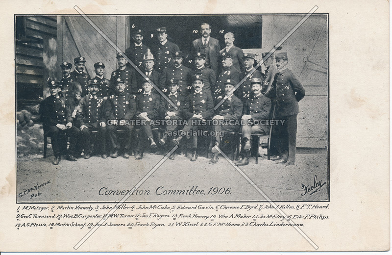 Firemen's Convention Committee, 1906