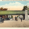 Main St. showing Long Island Railroad Bridge, Flushing, L.I., N.Y.