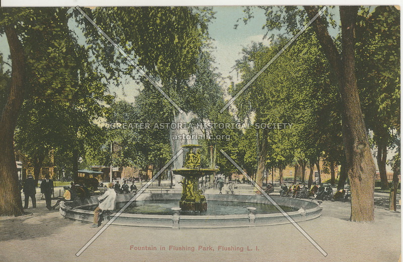 Fountain in Flushing Park, Northern Blvd and Main St., Flushing L.I.
