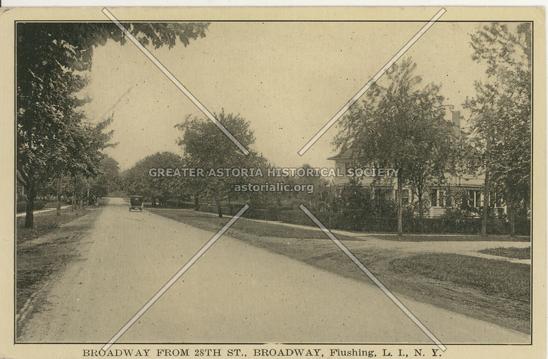 Broadway (Northern Blvd) from 28th St (168 St)., Flushing,L.I. , N.Y.