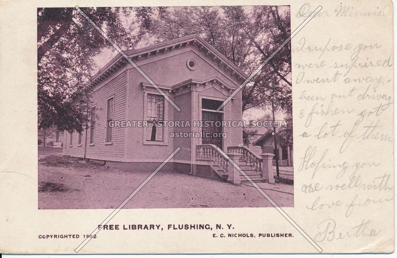 Free Library, Kissena Blvd and Main St., Flushing, N.Y.