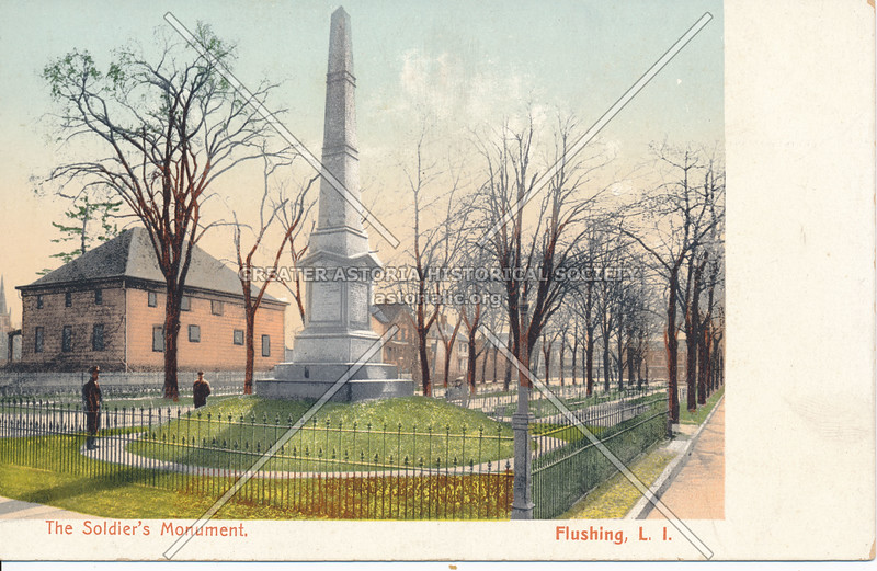 The Soldier's Monument, Northern Blvd and Linden Place, Flushing, L.I., N.Y.