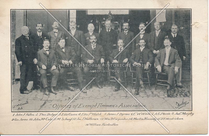 Officers of Exempt Firemen's Association