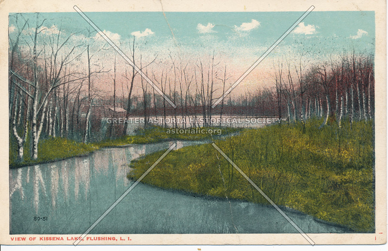View of Kissena Lake, Flushing, L.I.