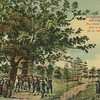 George Fox preaching under the Fox Oaks in 1672, Flushing L.I., N.Y.