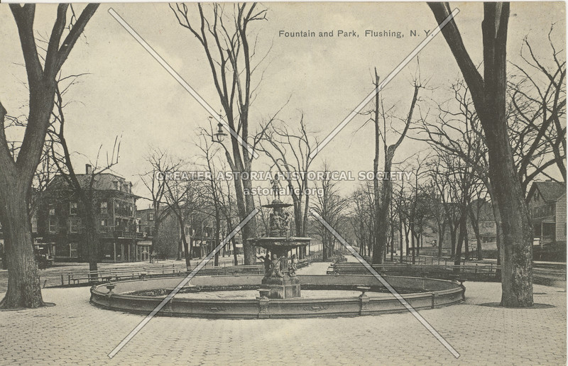 Fountain and Park, Northern Blvd. and Main St., Flushing, N.Y.