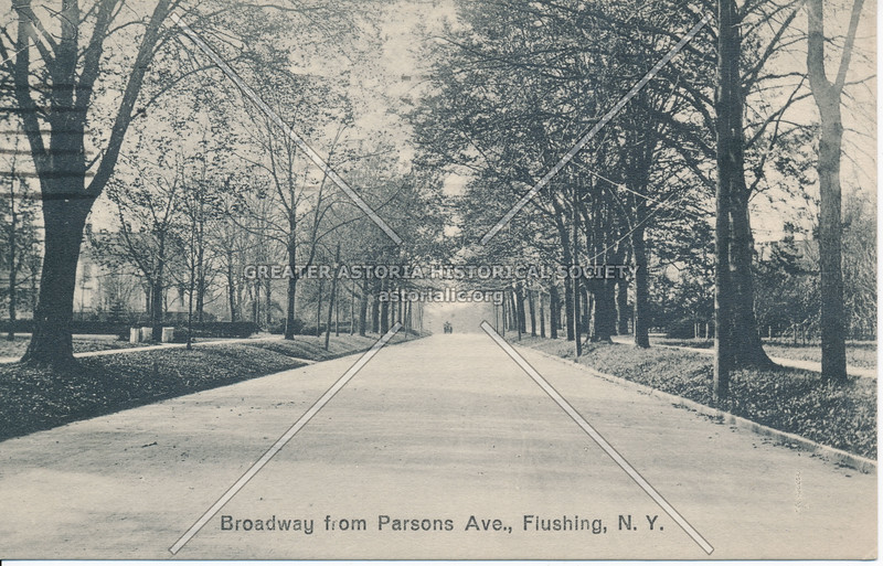 Broadway from Parsons Ave (Parsons Blvd)., Flushing, L.I.