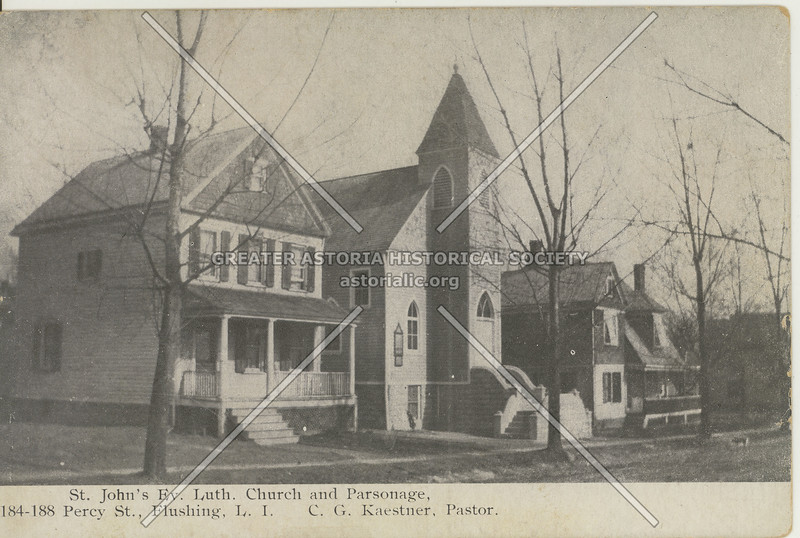 St. John's Ev. Luth. Church and Parsonage, Percy St (147 St) Flushing, L.I.
